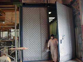 Acoustical Blankets solves noise issue at the Mold Factory